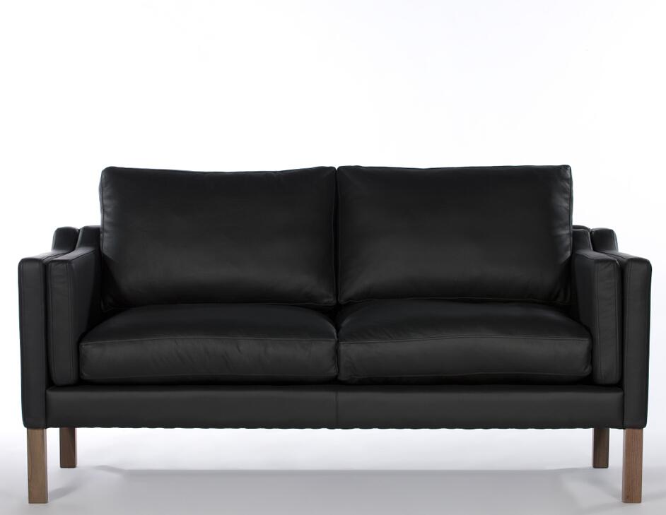 미국 빈티지 스타일의 정품 블랙 가죽 소파 세트, 철 다리 공기 ...