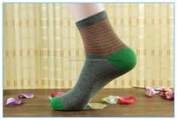 Socks Wholesale Custom Your Own Business Men Dress Stripped Cotton Socks