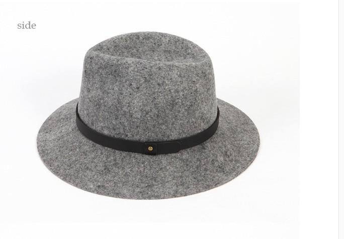 Compre Sombrero De Fieltro Retro Británico Al Por Mayor Libre Del ... 4eb34f08211