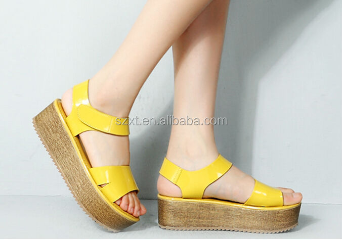 Fashionable Platform Chunky Wedge Heel Sandals For Teens Latest ...