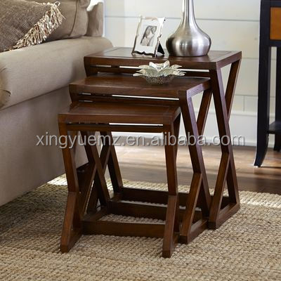 Solid Wood Nesting Table, Wooden Nesting Table, Z Table,