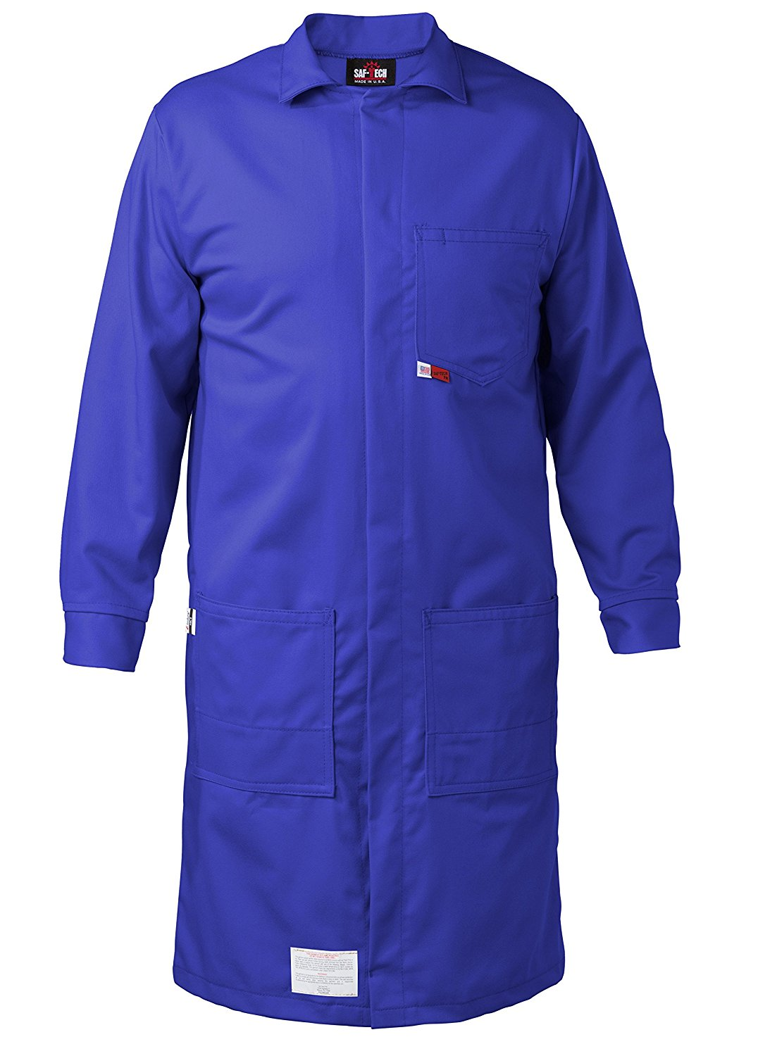 ROYAL - 2X - FR LAB COAT - 6oz. NOMEX III3 Flame Resistant Fabric - Lab or Classroom Ready - HRC 1 - APTV= 5.7 cal/m2 - MADE IN THE U.S.A.
