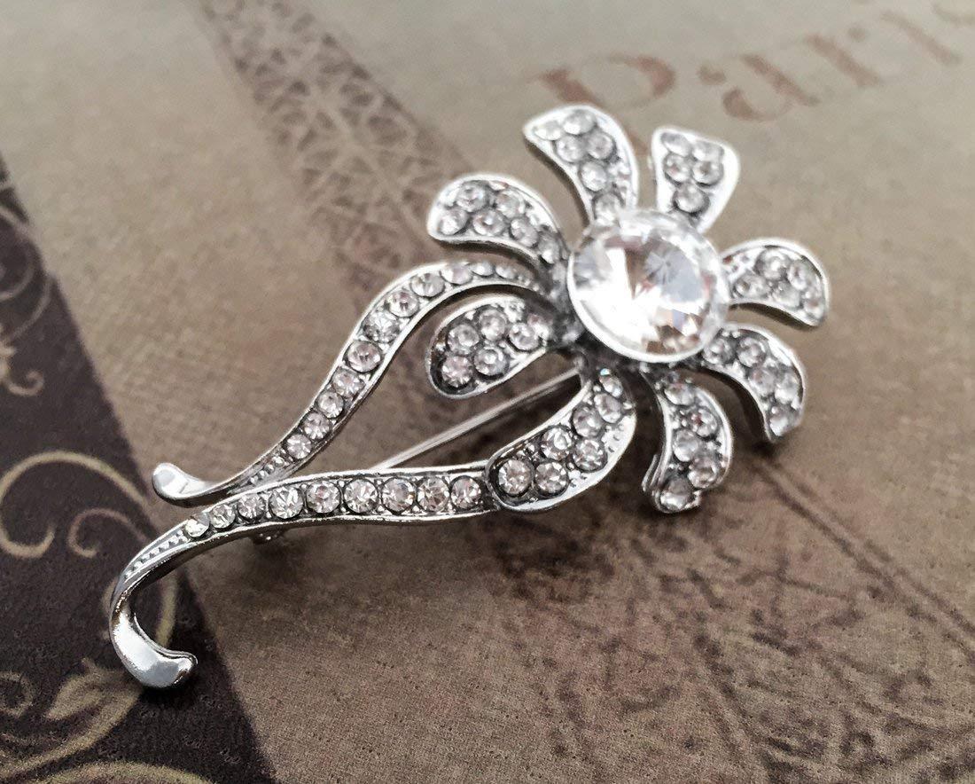 Rhinestone brooch crystal brooch, wedding brooch, rhinestone brooch pin, crystal brooch