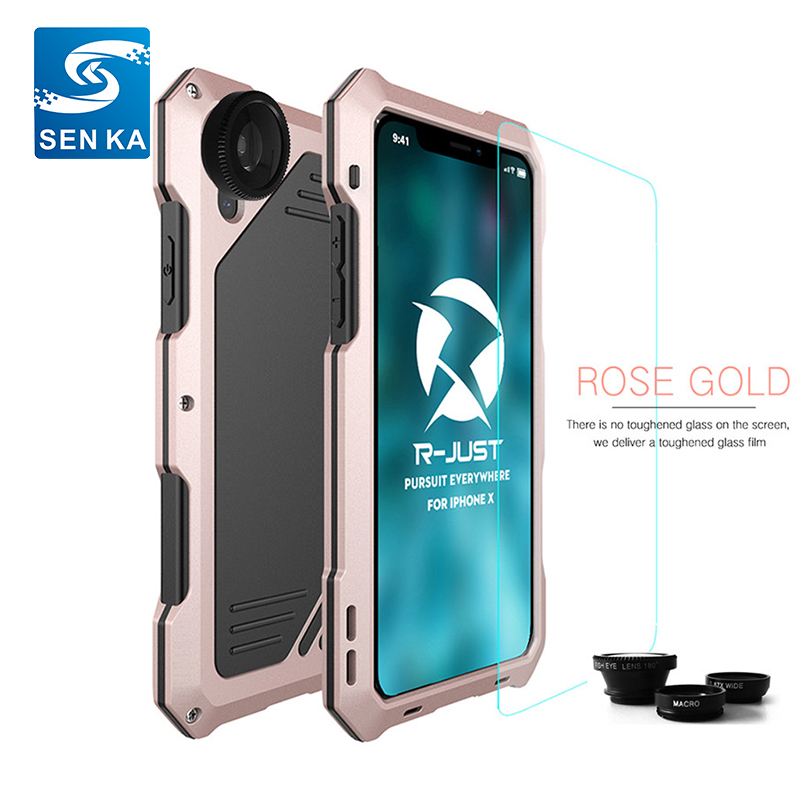 Camera 3 layer metal case,Hot Sale New Shockproof Waterproof Heavy Duty Metal Cell Phone Cases For Samsung S9/S9Plus