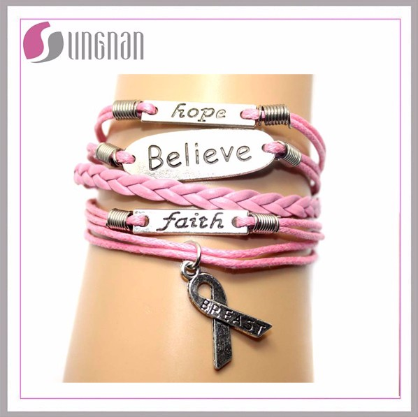 High quality fashion street trend leather bracelet