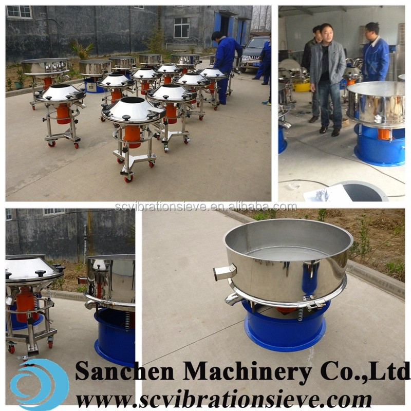 High frequency stainless steel vibration sand filtering equipment for ceramic glaze