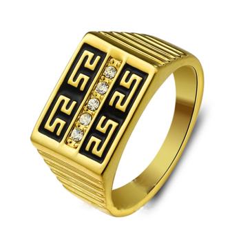 Unique Design Boys Men Gay Thumb Finger Rings Saudi Gold Men s