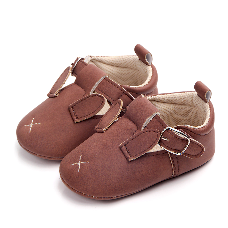 New Arrival Animal Design Leather Fancy Baby Shoes