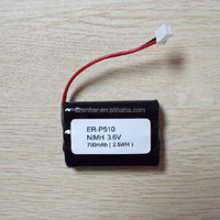 Ni-MH AAA 700mAh 3.6V rechargeable battery pack for cordless phone