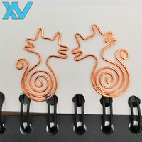 lovely animals tail cat paper clips rose golden paperclip