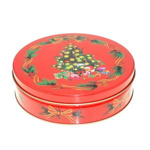 R0766H Hot-selling nice large round tin box christmas gift box