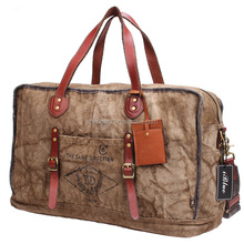 Iblue D024 Waterproof Canvas Leather Travel Dance Duffle Bag