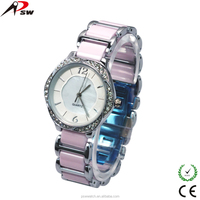 Trendy pink alloy watches for girls