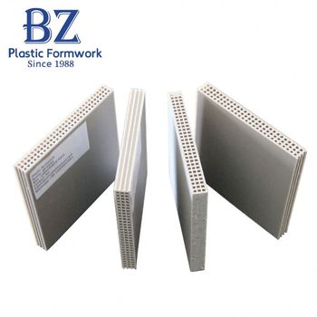 Beizhu group supply plastic shutter recycling concrete formwork for column concrete