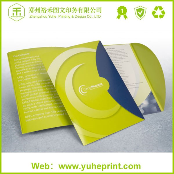 Cheap custom full color print soft plastic prescription paper file  folder with clip promotional items