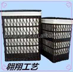 China high quality wicker laundry basket/laundry hamper.