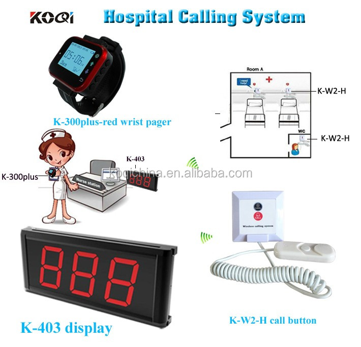 Newest Digital Nurse Call System Desktop Screen With Watch Receiver Room Bell for Patient Use