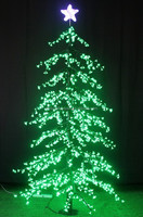 New arrival outdoor metal LED pine christmas tree