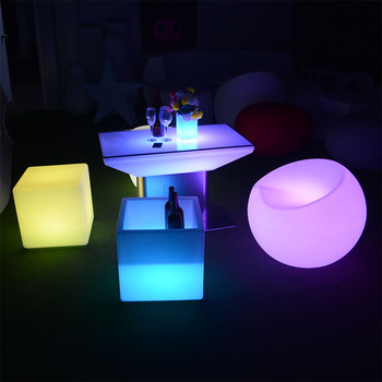 led bar chair illuminated plastic outdoor led furniture set sectional sofas chair table with lighting