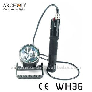 Archon Wh36 High Powerful 3xcree Xm-L U2 3-Modes 3000-Lumes LED Diving Flashlight Torch 3*26650