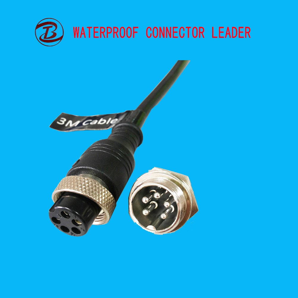 GX16 2m Male To Female Air Socket Plug Cable