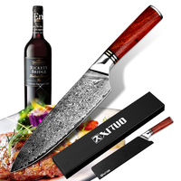 "XITUO Highquality Damascus Knife 8"" inch VG10 Blade Damascus Steel Knife 67 Layers Japanese Santoku Cleaver Meat Chef knife Gift"
