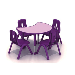 kids study plastic table and chair for preschool kids school furniture plastic kids table and chair set HFA273-4