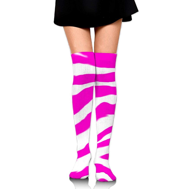 dbe92190c87 Get Quotations · Pink Zebra Print Casual Crew Top Socks
