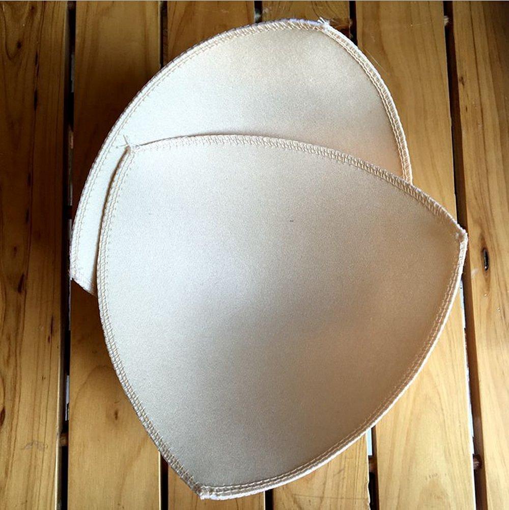 c4b00494e8 Get Quotations · Lautechco 2 Pairs Triangle Swimwear Bra Cups Woman Genie  Bra Ahh Bra Accessories Replacement Pads Inserts