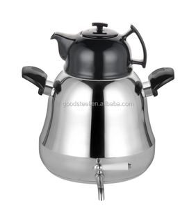 2018 Newest 6.0L Stainless Steel Twin Kettle With Porcelain Tea Pot/Double twins Kettle set MSF-2703
