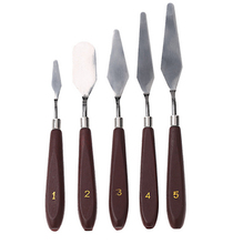 5pcs Stainless Steel Palette Knife set Mixed Scraper Set Spatula Knives for Artist Oil Painting knife free shipping