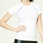 New Hot Sexy Stylish Women White Short Sleeve Shirt Manufacture T-shirt Made in China