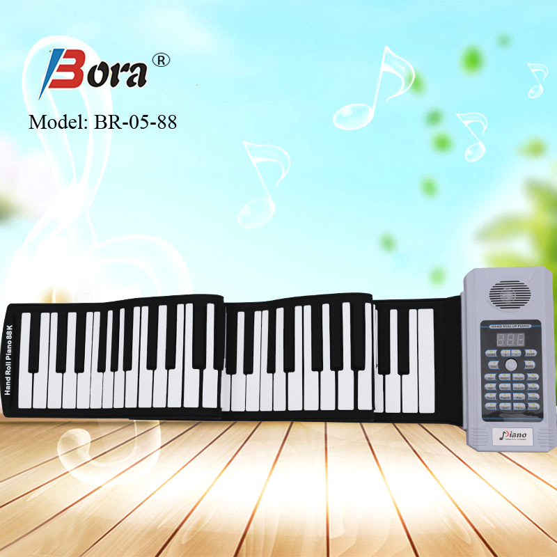 88-keys digital folding piano 88 keys midi roll up piano