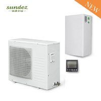 House heating house cooling split dc inverter air to water heat pump air conditioning 10KW 20KW