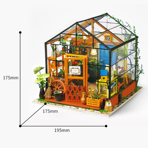 3D Wooden Handmade DIY Miniature Dollhouse Kit with Furniture