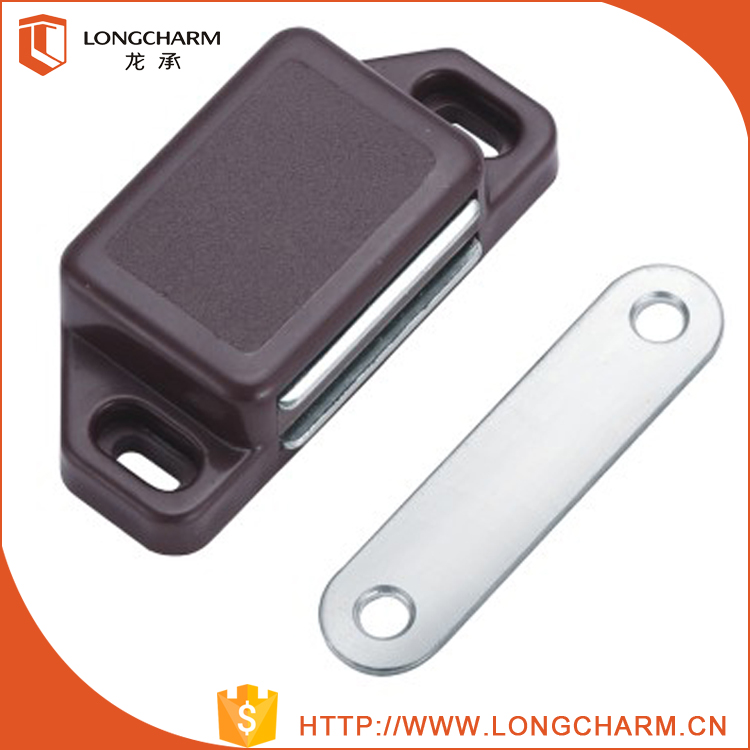Plastic&iron magnetic door latch for funiture cabinet