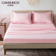 Home Textile Soft Microfiber Pompom Bed Sheet Sets Pink 4 Pcs