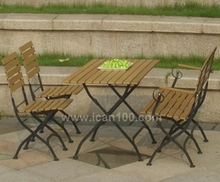 Outdoor Wooden Furniture Set for Restaurant and Cafe Dining (IF-1007)