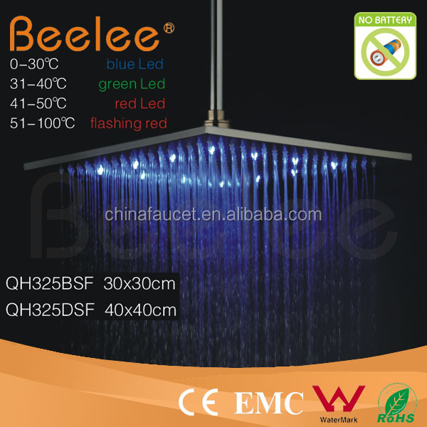 Led Raining Shower Head Color Changing LED Water Saving Shower Head