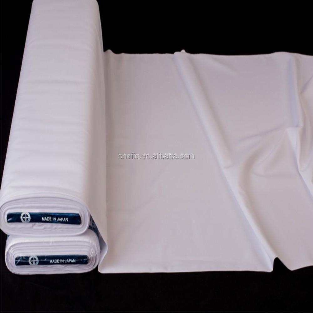 100% spun polyester fabric /arab thobe thawb fabric/muslim white clothing fabric