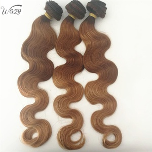 Top quality 4T30 27 Three color 100% body wave hair weave bundles human brazilian hair