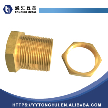 Brass nipple straight adapter tube fitting male nipple/copper fitting