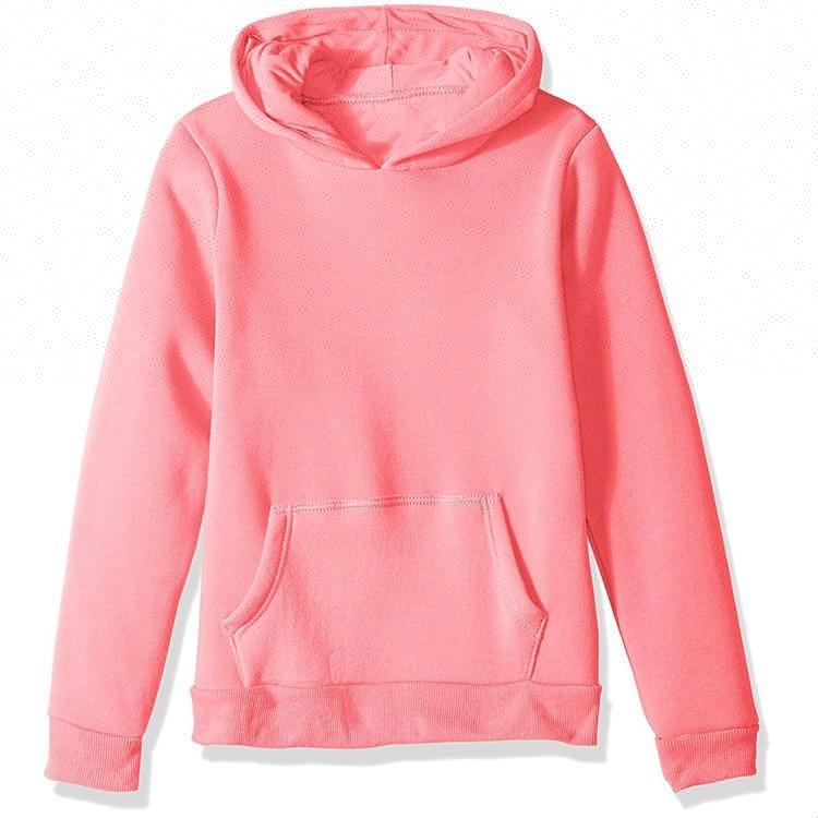 Plain Blank Kid Youth Child size Jacket zip up zipper Hoodie HEATHER GRAY