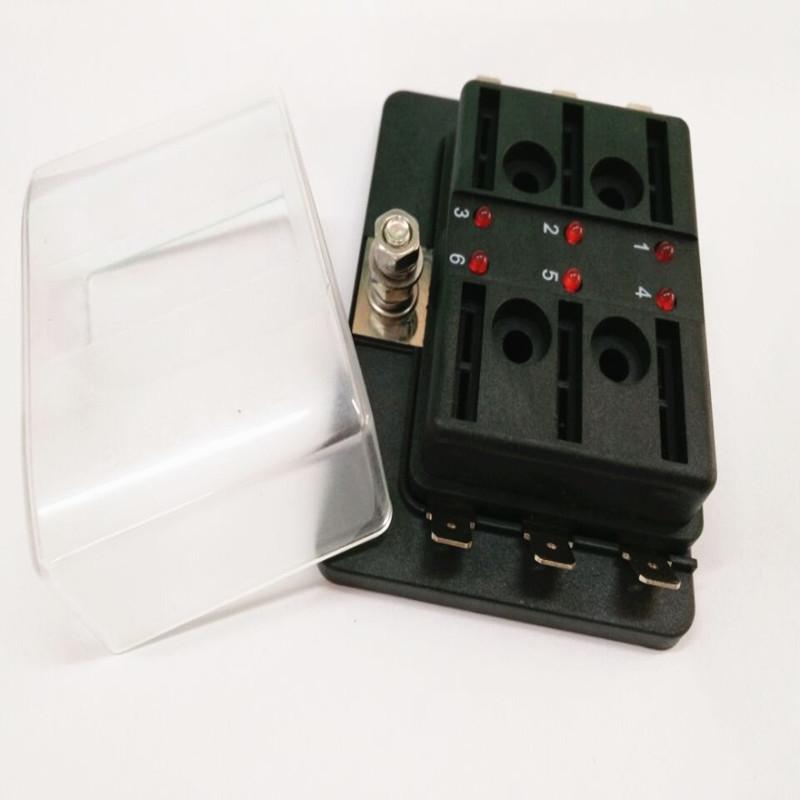 4 Way Blade Fuse Box Holder 12V//24V For Low Voltmeter Marine Car SUV Motorcycle