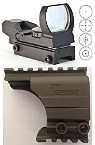 Ultimate Arms Gear IMI Defense Rail Scope Mount OD Green Reticle Red Dot Open Reflex Sight Scope Fits HK Heckler & Koch H&K HK45 P30 P30L P2000