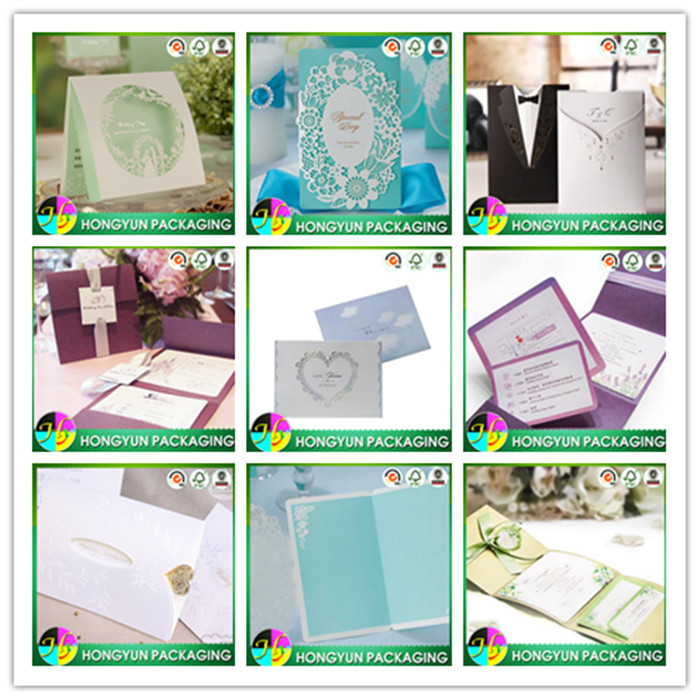 China supplier sell laser cut wedding invitation card, lowest price of handmade wedding card