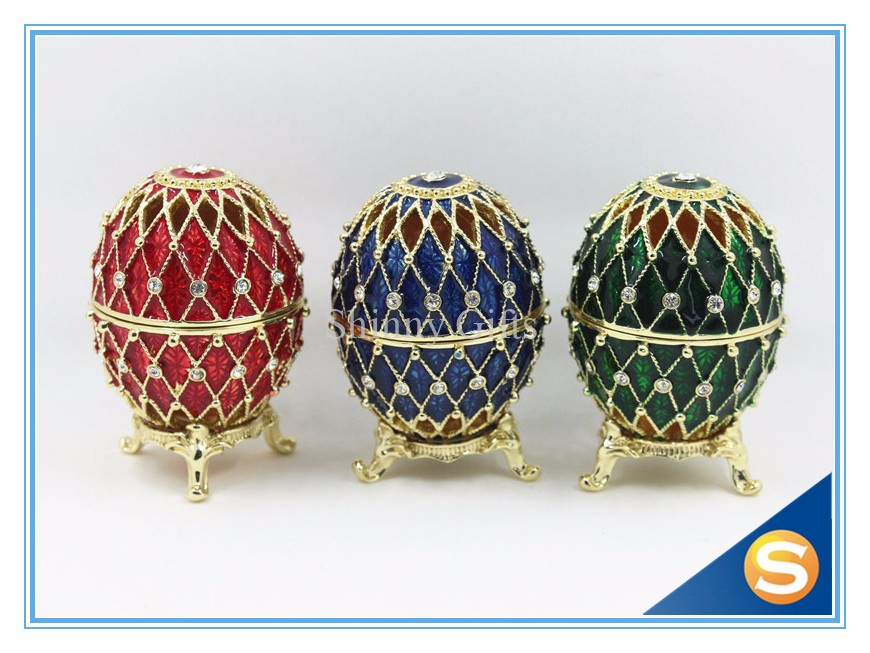 2016 New Arrival Design Faberge Egg Trinket Box Keepsake Box Wholesale