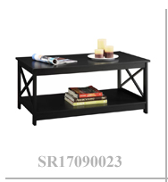 X Style Simple Cheap Black Long Square Coffee Table