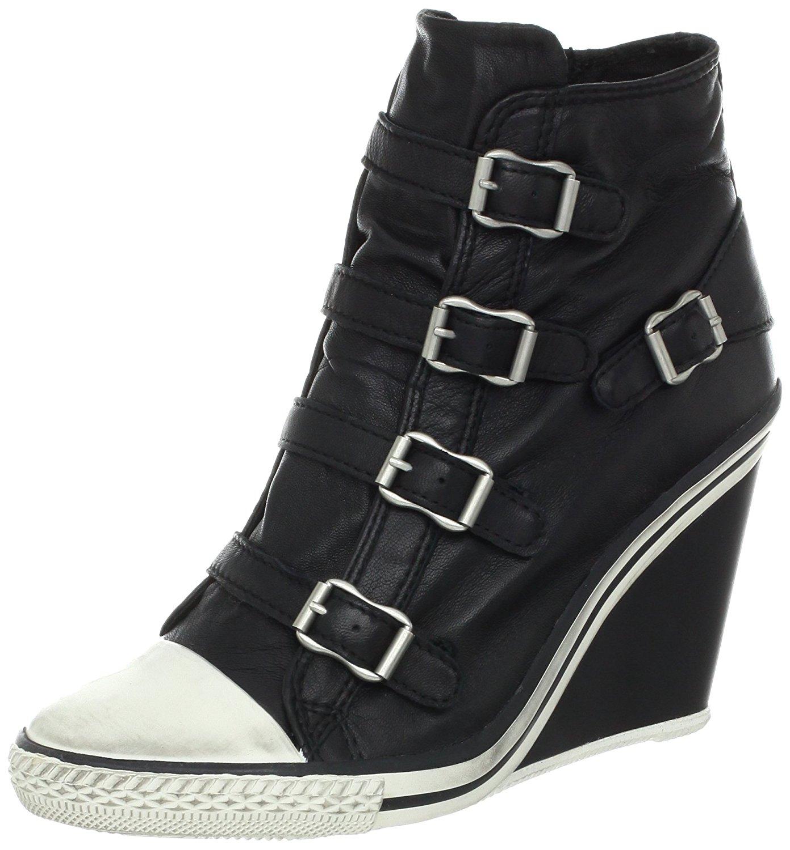 0b89381ce9236 Ash Women S Thelma-Nappa Wax Wedge Sneakers