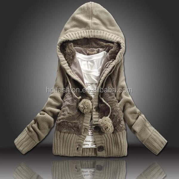 Winter Heavy Cardigan With Hoodies Double Buttons For Latest ...